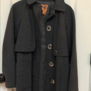 Tory Burch grey trench coat Size 6
